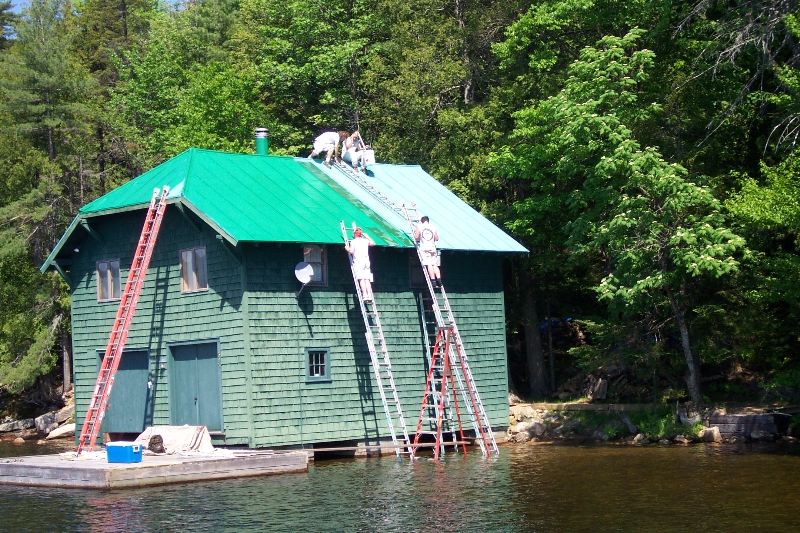 Boathouse Painting - Adirondacks